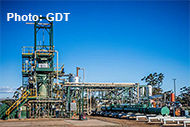 GDT tyre recycling plant